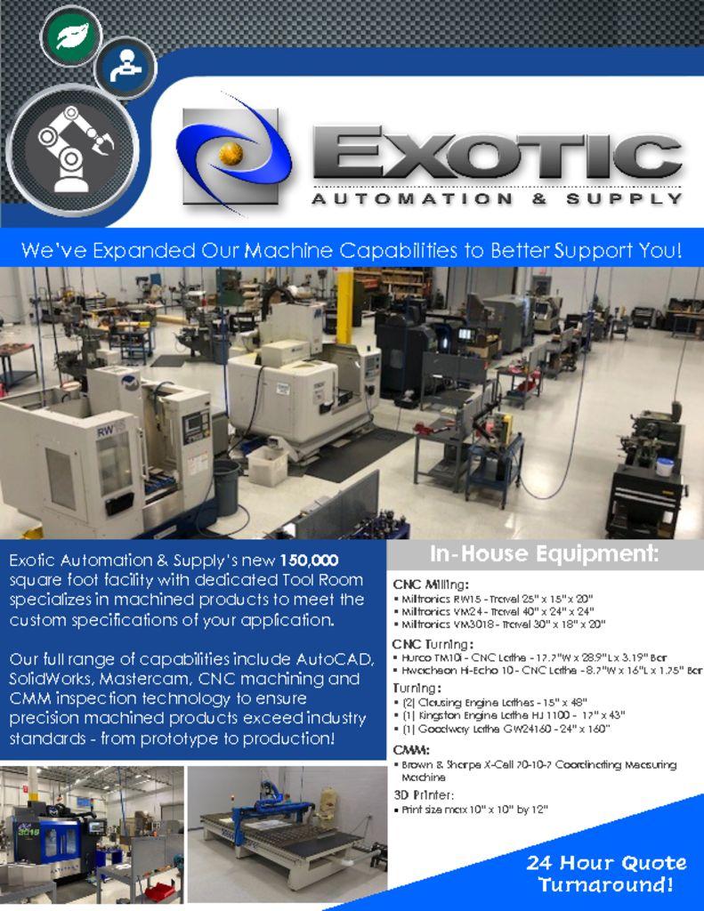 Exotic Machining Capabilities