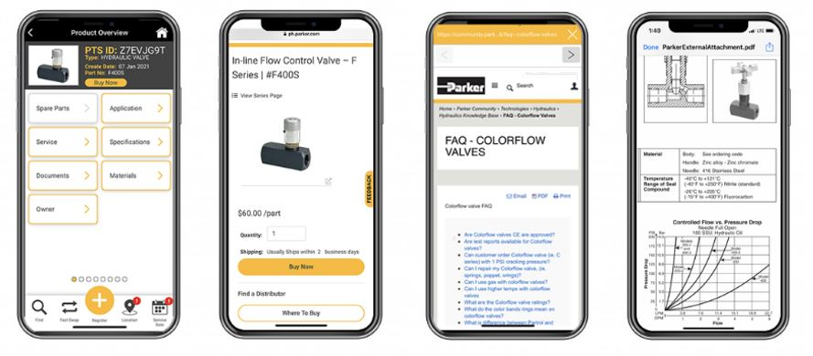 Reorder Parker Colorflow Valves on the PTS App!
