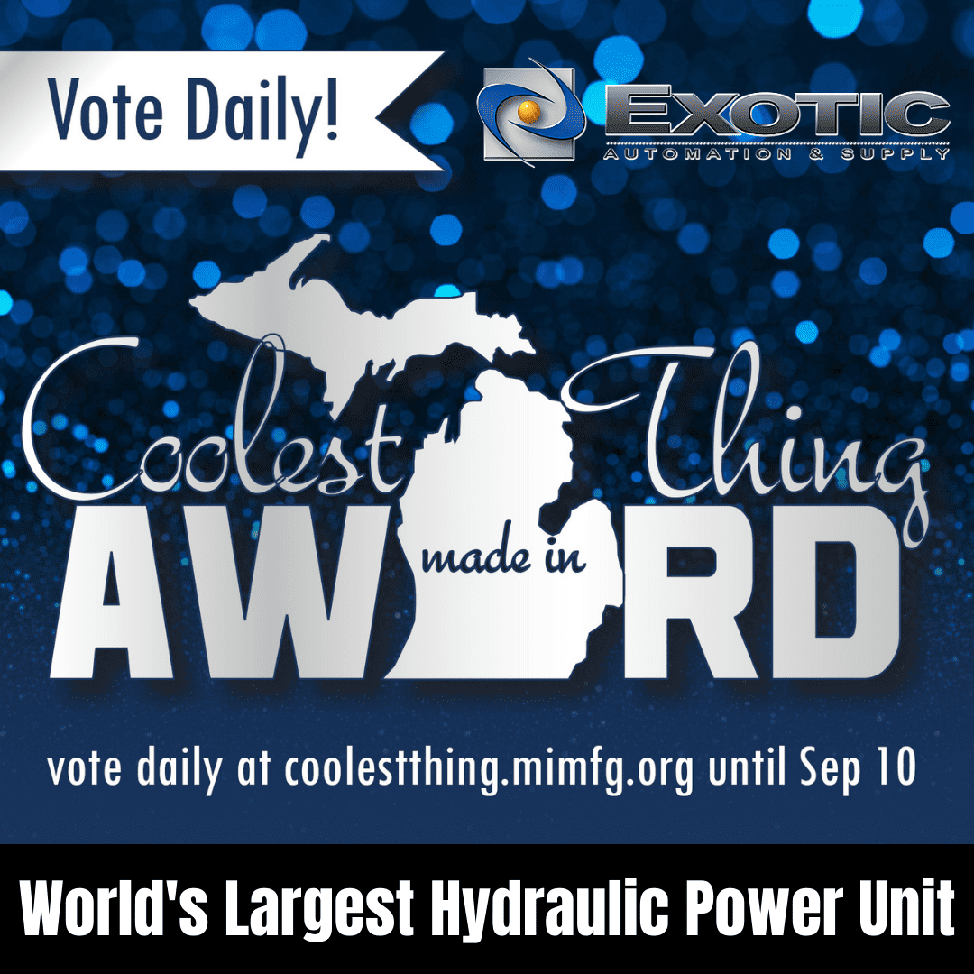 Vote for Exotic in the Coolest Thing Made in Michigan Contest!