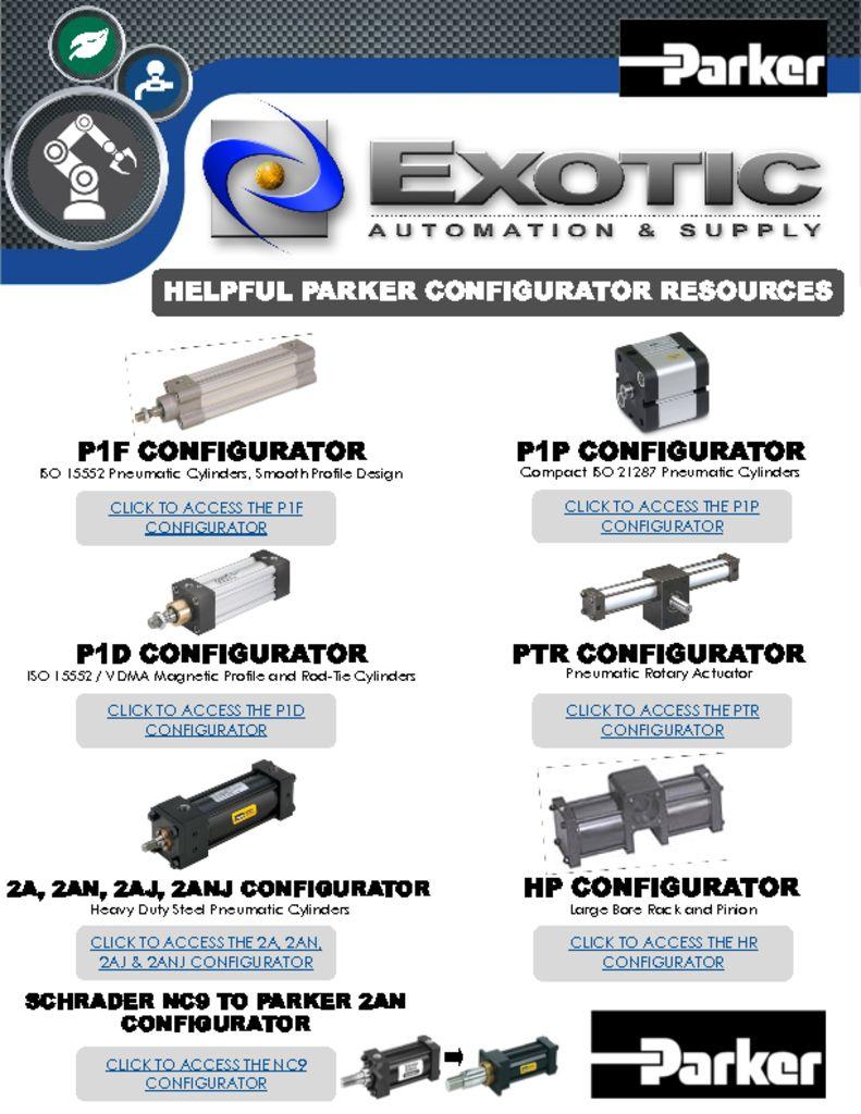 Parker Configurator Resources