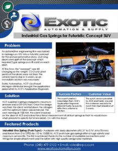 thumbnail of Idustrial Gas Springs for Futuristic Concept SUV Case Study