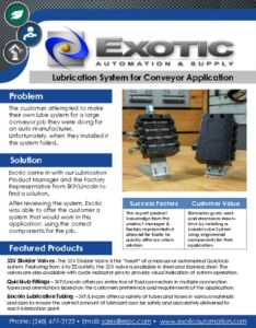 thumbnail of Custom Lincoln Lube System Case Study