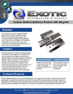 thumbnail of Custom Molded Urethane Product with Magnets Case Study