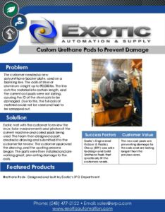thumbnail of Designed and Built Urethane Pads Case Study