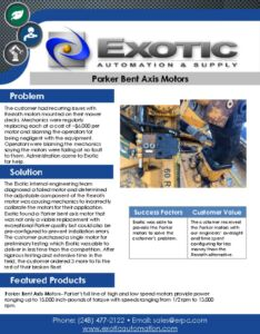 thumbnail of Parker Bent Axis Motors Case Study