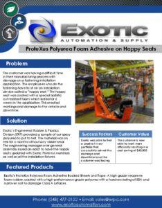 thumbnail of ProteXus Polyurea Foam Adhesive on Happy Seats Case Study