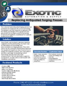 thumbnail of Replacing Antiquated Forging Presses Case Study